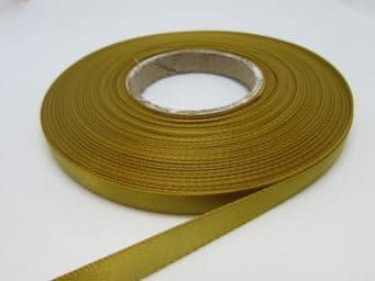 Dark  Old Gold Satin ribbon Double sided, 3mm 7mm 10mm 15mm 25mm 38mm 50mm Roll Bow